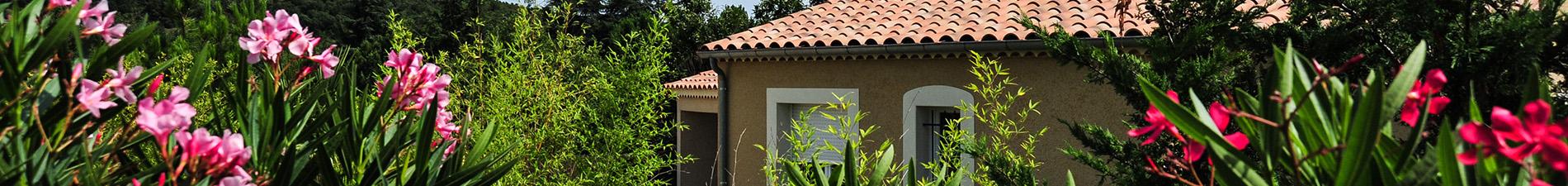 Villa de résidence de villas de Sampzon à louer en Ardèche Blue Hills Résidence